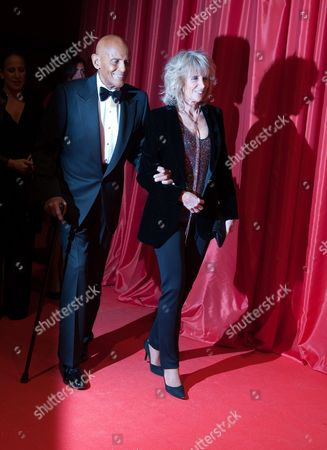 Singer Harry Belafonte and his wife Pamela arrive at the red carpet during the charity gala 'Ein Herz fuer Kinder' (A heart for children) in Berlin