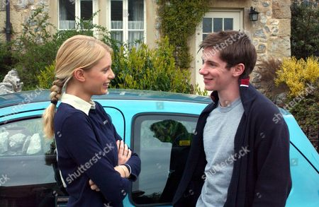 'Emmerdale'  TV - 2005 -  Robert Sugden (Karl Davies) see's the perfect oppertunity to get his own back at Andy by asking Libby Charles (Ty Glaser) out on a date with his brother watching.