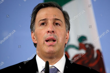 Foreign Minister of Mexico Jose Antonio Meade Kuribrena addresses the media during a joint press conference as part of a meeting with German Foreign Minister Frank-Walter Steinmeier in Berlin, Germany