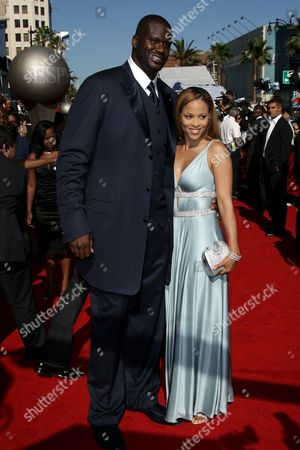 Stock Image of Shaquille O'Neal and wife Shaunie O'Neal