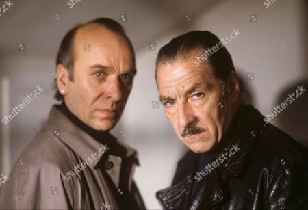 Ken Bones (left) and George Innes in 'Seekers' - 1992