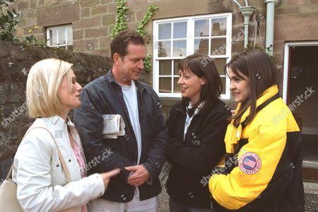 'Sweet Medicne' - 2003 L-R:  Christine Kavanagh (plays Sam Lawrence), Jack Ellis (plays Matthew Lawrence, Producer Claire Phillips and Gillian Kearny (plays Deb Sweet).
