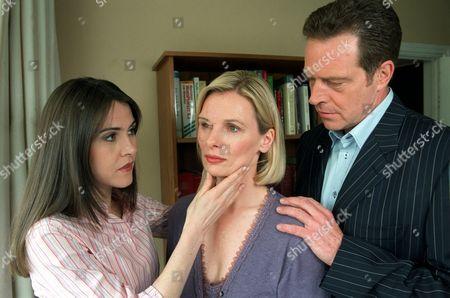 'Sweet Medicine' - 2003 - L-R: Gillian Kearny as Deb Sweet, Christine Kavanagh as Sam Lawrence, Jack Ellis as Matt Lawrence.