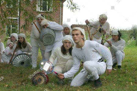 'Dangerville' - 2003 -  L-R: Olivia Newton, Luke Gell, Sara Kohal, Finn Atkins and the underground resistance.