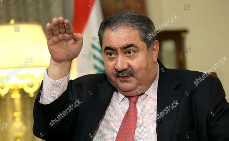 Hoshyar Zebari Iraq's Finance Minister Hoshyar Zebari speaks during an interview with the Associated Press in Baghdad, Iraq, . Iraq's finance minister says plunging oil prices and soaring costs from the country's war against the Islamic State group is hurting the country's economy
