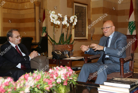 Tamamm Salam, Mikhail Bogdanov Lebanese Prime Minister Tamam Salam, right, meets with Russia's deputy Foreign Minister Mikhail Bogdanov, left, at the government palace, in Beirut, Lebanon, . Bogdanov is in Lebanon to meet with Lebanese officials