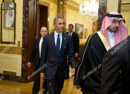 Barack Obama President Barack Obama walks to a bilateral meeting with new Saudi Arabian King, Salman bin Abdul Aziz, in Riyadh, Saudi Arabia, . The president has come to expresses condolences on the death of the late Saudi Arabian King Abdullah bin Abdulaziz al-Saud