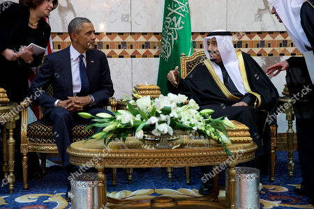 Barack Obama, Salman bin Abdul Aziz President Barack Obama meets Saudi Arabian King Salman bin Abdul Aziz in Riyadh, Saudi Arabia, . The president and first lady came to expresses their condolences on the death of the late Saudi Arabian King Abdullah bin Abdulaziz al-Saud