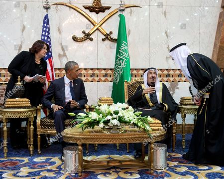 Barack Obama, Salman bin Abdul Aziz President Barack Obama meets new Saudi Arabian King, Salman bin Abdul Aziz, in Riyadh, Saudi Arabia, . The president and first lady have come to expresses their condolences on the death of the late Saudi Arabian King Abdullah bin Abdulaziz al-Saud