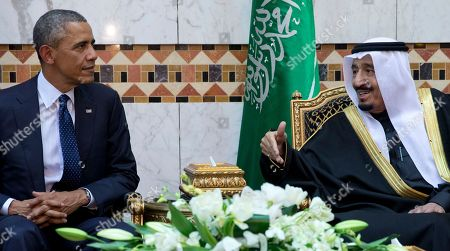 Barack Obama, Salman bin Abdul Aziz President Barack Obama meets with new Saudi Arabian King, Salman bin Abdul Aziz, at Erga Palace in Riyadh, Saudi Arabia, . The president and first lady have come to expresses their condolences on the death of the late Saudi Arabian King Abdullah bin Abdulaziz al-Saud