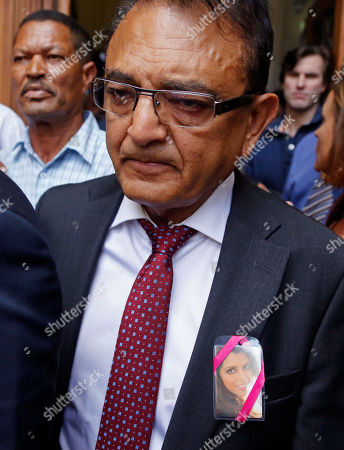 Vinod Hindocha, the father of slain Anni Dewani, after the court case that acquitted his daughter's former husband Shrien Dwani from murdering her at the high court in Cape Town, South Africa, . British man Shrien Dwani accused of killing his wife Anni while they were on honeymoon in Cape Town was acquitted of murder on Monday after a South African judge concluded that the prosecution's case did not have sufficient evidence. Shrien Dewani promptly descended stairs leading out of the courtroom following the not guilty ruling by Cape Town High Court Judge Jeanette Traverso