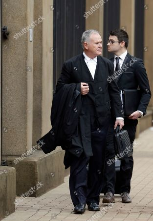 Oscar Pistorius Oscar Pistorius's lawyer, Barry Roux, arrives at the high court in Pretoria, South Africa, . The state Prosecutor Gerrie Nel, is setting out in court Tuesday, arguments in the case against Oscar Pistorius, who was acquitted of murder for killing girlfriend Reeva Steenkamp. Nel outlined his objections to the verdict and sentence against Pistorius, who was convicted of the lesser charge of culpable homicide and sentenced to a five year prison term in October by Judge Thokozile Masipa