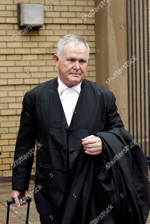 Barry Roux Oscar Pistorius's lawyer, Barry Roux, arrives at the high court in Pretoria, South Africa, . The state Prosecutor Gerrie Nel, is setting out in court Tuesday, arguments in the case against Oscar Pistorius, who was acquitted of murder for killing girlfriend Reeva Steenkamp. Nel outlined his objections to the verdict and sentence against Pistorius, who was convicted of the lesser charge of culpable homicide and sentenced to a five year prison term in October by Judge Thokozile Masipa