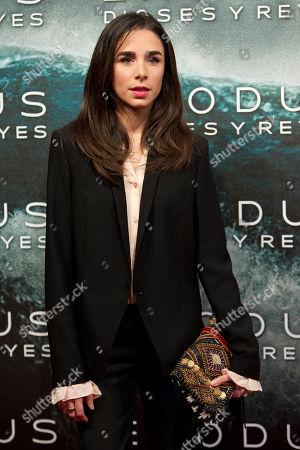Candela Serrat Candela Serrat poses for photographers during the premiere of the film 'Exodus' in Madrid, on