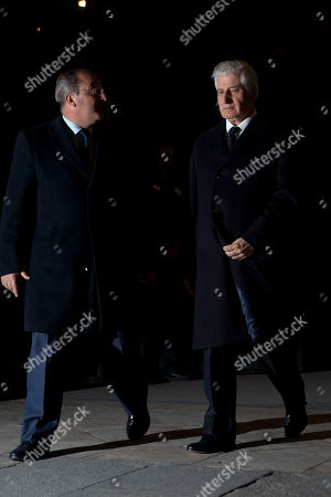 Carlos Fitz-James Stuart Carlos Fitz-James Stuart, right, after the Funeral Mass in honor of the Duchess of Alba at Real Basilica de San Francisco el Grande in Madrid, Spain
