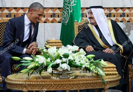 Barack Obama, Salman bin Abdul Aziz President Barack Obama meets new Saudi Arabian King Salman bin Abdul Aziz in Riyadh, Saudi Arabia, . The president and first lady came to expresses their condolences on the death of the late Saudi Arabian King Abdullah bin Abdulaziz al-Saud