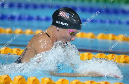 Jessica Hardy Jessica Hardy of the U.S. swims in her women's 100m breaststroke final at the Pan Pacific swimming championships in Gold Coast, Australia, . Hardy won the race ahead of Kanako Watanabe of Japan and Breeja Larson of the U.S