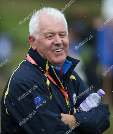 Gerry McIlroy, father of Europe's Rory McIlroy, watches a practice round on the 8th fairway ahead of the Ryder Cup golf tournament at Gleneagles, Scotland