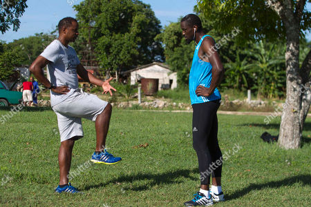 Teddy Tamgho, Ivan Pedroso Ivan Pedroso, left, former Olympic long jump champion, coaches French triple jump world champion Teddy Tamgho, during a training session in Havana, Cuba