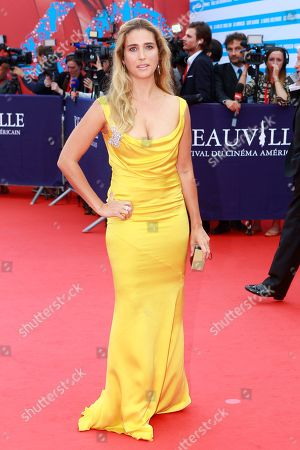 Vahina Giocante arrives at the 40th American Film Festival, in Deauville, Normandy, western France
