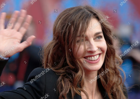 French actress Anne Parillaud arrives for the award ceremony at the 40th American Film Festival in Deauville, Normandy, western France
