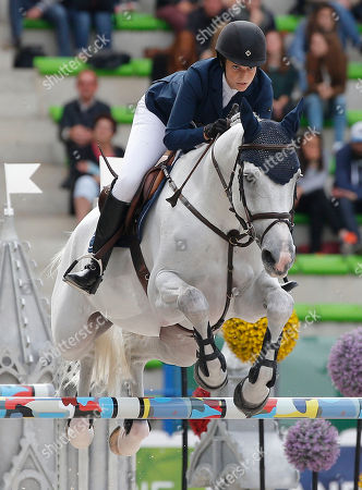 Athina Onassis-de Miranda Athina Onassis-de Miranda of Greece, riding AD Camillez during the team and individual qualifying jumping at the FEI World Equestrian Games in Caen, western France