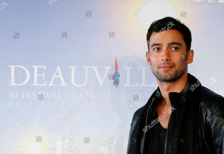 "Actor Arash Marandi poses during a photocall for ' A Girl Walks Home Alone at Night"" at the 40th American Film Festival, in Deauville, Normandy, western, France"