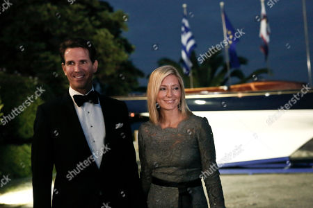Crown Prince Pavlos of Greece, Crown Princess Marie-Chantal Crown Prince Pavlos of Greece with Crown Princess Marie-Chantal arrive at the Yacht Club of Greece in Piraeus, near Athens, on . Former King Constantine II of Greece and former Queen Anne-Marie of Greece celebrate Thursday their Golden wedding anniversary with royals from all over Europe
