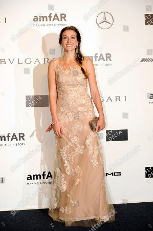 Eleonora Berlusconi arrives for the amfAR charity dinner during the fashion week in Milan, Italy