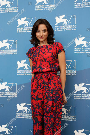 Federica De Cola Actress Federica De Cola during the photo call for the movie Il Giovane Favoloso at the 71st edition of the Venice Film Festival in Venice, Italy