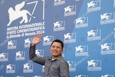 Actor Adi Rukun poses for photographers at the photo call for the film The Look of Silence the 71st edition of the Venice Film Festival in Venice, Italy