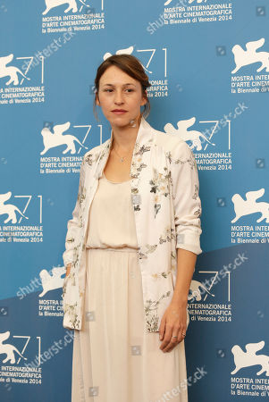 Sarah Adler Actress Sarah Adler poses during the photo call for the movie Tsili during the 71st edition of the Venice Film Festival in Venice, Italy