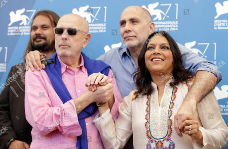 Hector Babenco, Warwick Thornton, Guillermo Arriaga, Mira Nair From left, directors Warwick Thornton, Hector Babenco, Guillermo Arriaga, and Mira Nair pose during the photo call for the movie 'Words with the gods' at the 71st edition of the Venice Film Festival in Venice, Italy