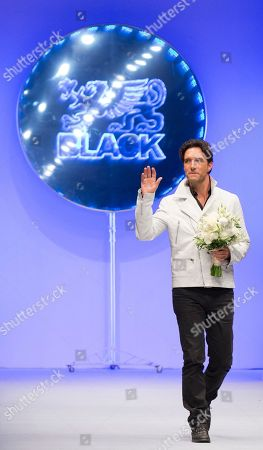Leonardo de Lozanne Mexican singer Leonardo de Lozanne waves to guests after a runway show by his label Black, during Fashion Week in Mexico City