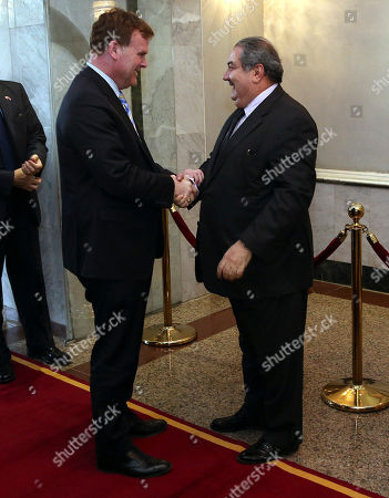 Hoshyar Zebari, John Baird Iraqi Foreign Minister Hoshyar Zebari, right, shakes hands with Canadian Foreign Minister John Baird in Baghdad, Iraq