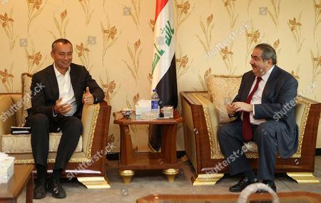 Nickolay Mladenov, Hoshyar Zebari United Nations envoy to Iraq Nickolay Mladenov, left, meets with Iraqi Foreign Minister Hoshyar Zebari, right, in Baghdad, Iraq