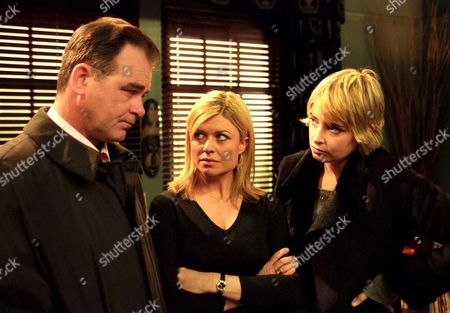 'Emmerdale'  - Terry Woods (Billy Hartman), Louise Appleton [Emily Symons]and Charity Dingle [Emma Atkins]
