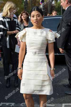 Princess Siriwanwaree Nareerat Of Thailand arrives for Chloé's Spring/Summer 2015 ready-to-wear fashion collection presented in Paris, France