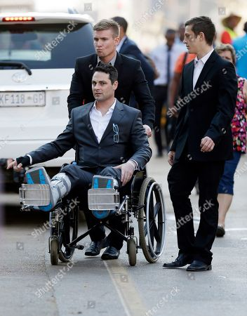 Oscar Pistorius Oscar Pistorius's brother Carl Pistorius, on a wheel chair, with relatives arrives at the high court in Pretoria, South Africa, . Presiding Judge Thokozile Masipa is expected to announce her verdict in Pistorius' murder trail after scrutinizing evidence Thursday and Friday given by 37 witnesses in a court transcript running to thousands of pages in a drama that has played out over six months