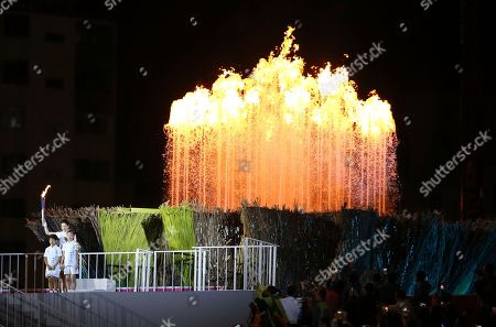 Lee Young-ae South Korean actress Lee Young-ae lights the tourch at Incheon Asiad Main Stadium during the opening ceremony for the 17th Asian Games in Incheon, South Korea