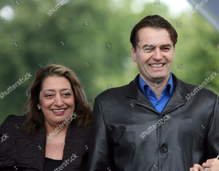 Editorial image of Architect Zaha Hadid at opening of her installation Lilas at the Serpentine Gallery, London, Britain  - 11 Jul 2007