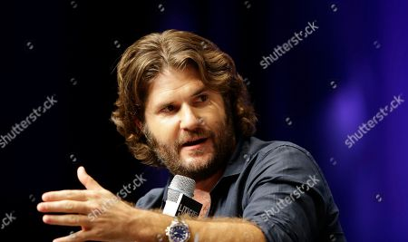 """Jonathan Liebesman Director Jonathan Liebesman answers reporters' question during a press conference for his latest film """"Teenage Mutant Ninja Turtles"""" in Seoul, South Korea, . The movie will be released in South Korea on Aug. 28"""