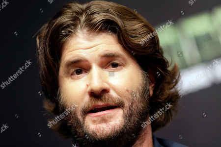 """Jonathan Liebesman Director Jonathan Liebesman answers reporters' question during a press conference for latest film """"Teenage Mutant Ninja Turtles"""" in Seoul, South Korea, . The movie is to be released in South Korea on Aug. 28"""