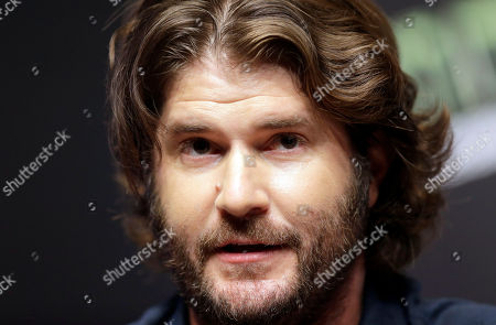 """Stock Photo of Jonathan Liebesman Director Jonathan Liebesman answers reporters' question during a press conference for latest film """"Teenage Mutant Ninja Turtles"""" in Seoul, South Korea, . The movie is to be released in South Korea on Aug. 28"""