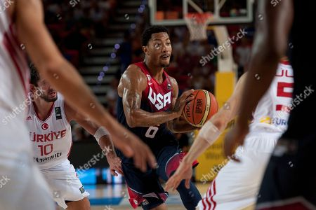 Derrick Rose United States's Derrick Rose, controls the ball during the Group C Basketball World Cup match, against Turkey, in Bilbao northern Spain, . The 2014 Basketball World Cup competition take place in various cities in Spain from last Aug. 30 through to Sept. 14