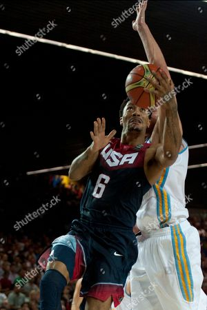 Derrick Rose Derrick Rose of the US, left, dunks the ball during the Group C Basketball World Cup match against Ukraine in Bilbao, northern Spain, . The 2014 Basketball World Cup competition take place in various cities in Spain from Aug. 30 through to Sept. 14