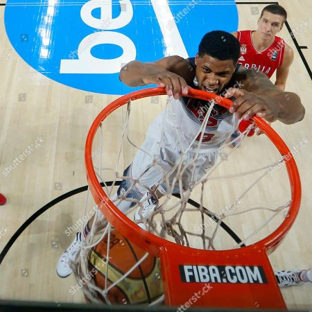 Rudy Gay United States' Rudy Gay dunks during the final World Basketball match between the United States and Serbia at the Palacio de los Deportes stadium in Madrid, Spain