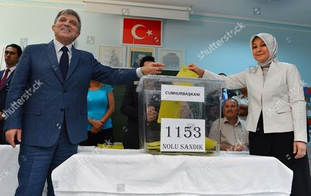 Abdullah Gul, Hayrunnisa Gul Turkey's President Abdullah Gul and his wife Hayrunnisa Gul cast their votes for Turkey's presidential election at a polling station in Ankara, Turkey, on . Turks were voting in their first direct presidential election Sunday _ a watershed event in Turkey's 91-year history, where the president was previously elected by Parliament. Prime Minister RecepTayyip Erdogan, who has dominated the country's politics for the past decade, is the strong front-runner to replace the incumbent, Abdullah Gul, for a five-year term