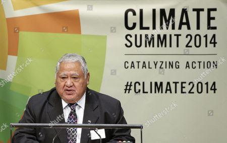 New York, Tuilaepa Aiono Sailele Malielegaoi Tuilaepa Aiono Sailele Malielegaoi, Prime Minister of Samoa, speaks at United Nations headquarters