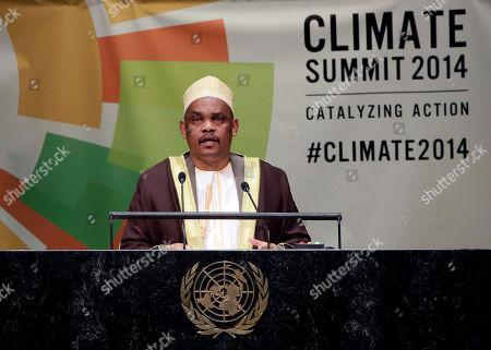 Ikililou Dhoinine President Ikililou Dhoinine, of Comoros, addresses the United Nations Climate Summit, at U.N. headquarters
